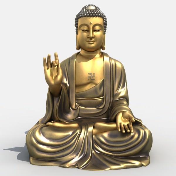 3d Models Buddha Statue 3d Model Max Obj 3ds Fbx