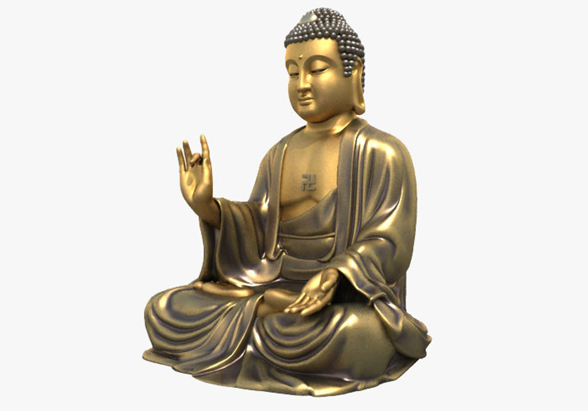 3d models buddha statue 3d model max obj 3ds fbx for Mobel 3d download