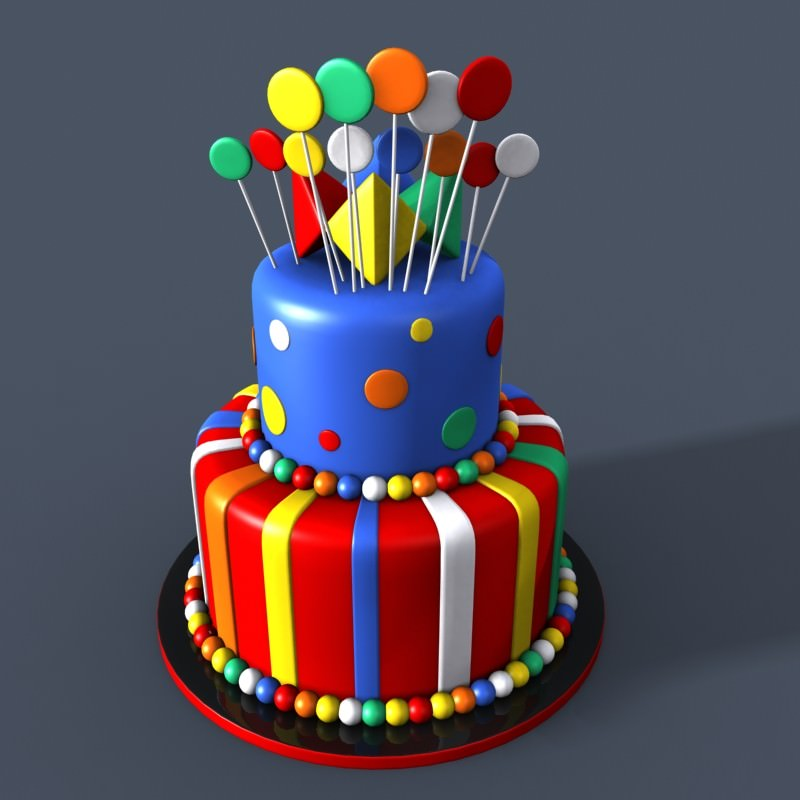 D Printer Birthday Cake