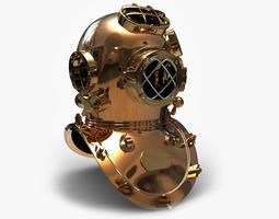 3d models antique diving helmet