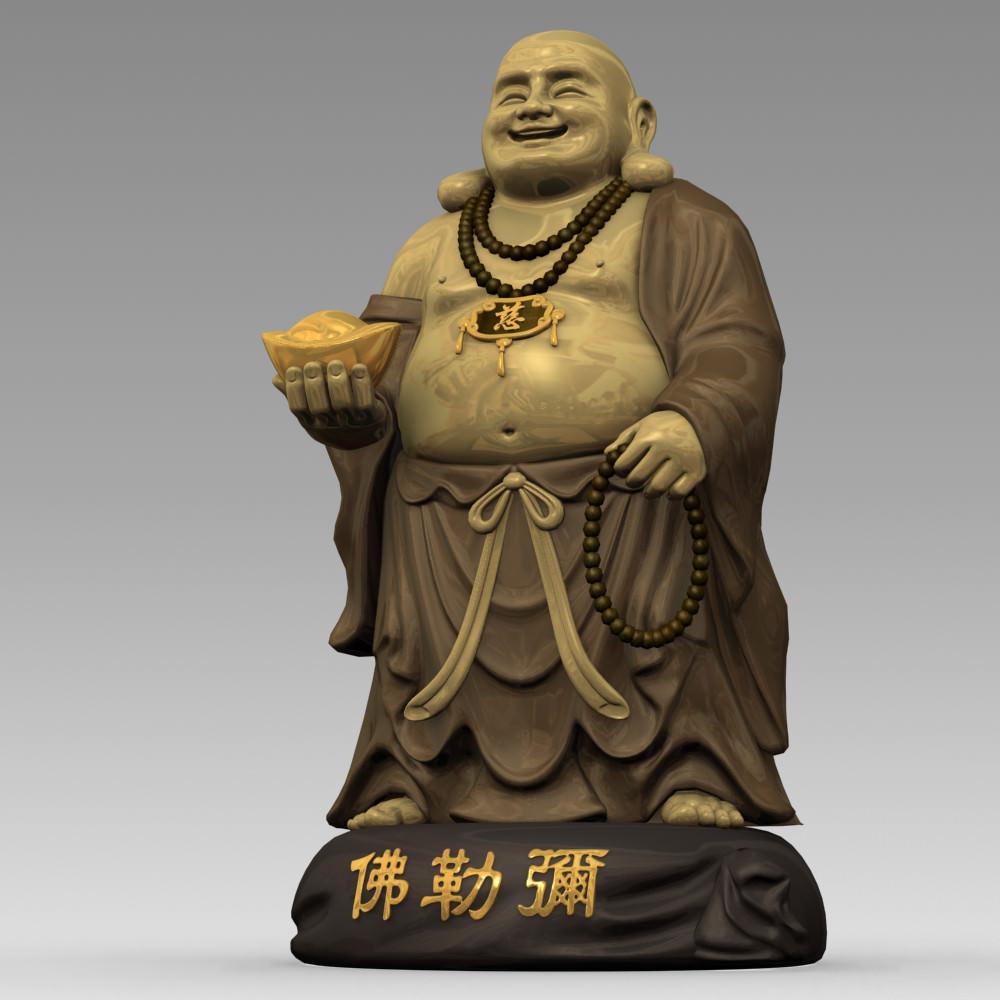 3d Models Maitreya Buddha Statue 3d Model Max Obj Fbx