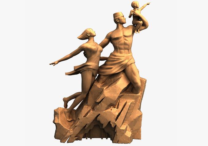 3D Models Monument De La Renaissance Afric...3D model