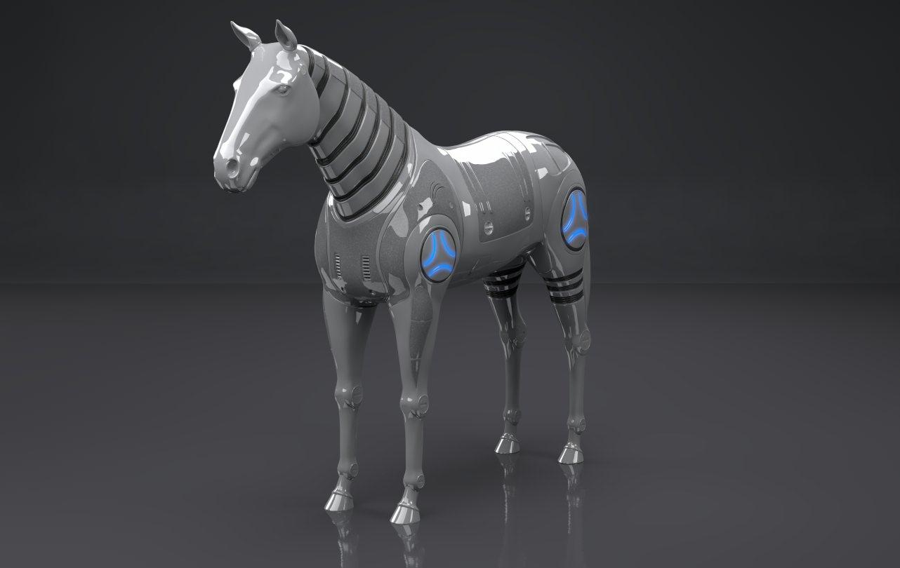 Robot Horse Animals Mammal 3d Models Cgtrader Com