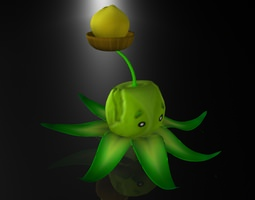 Creative Throwing Corn 3D model