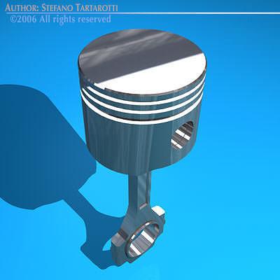 piston 3d model obj mtl 3ds c4d dxf 1
