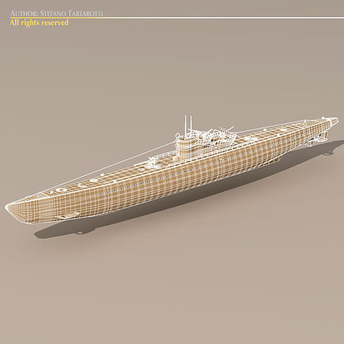 type ix u-boat submarine 3d model max obj 3ds fbx c4d dxf 7
