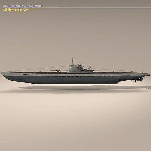 type ix u-boat submarine 3d model max obj 3ds fbx c4d dxf 5