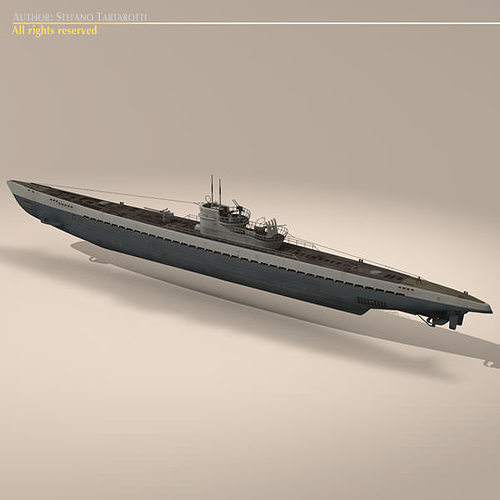 type ix u-boat submarine 3d model max obj 3ds fbx c4d dxf 12
