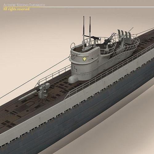 type ix u-boat submarine 3d model max obj 3ds fbx c4d dxf 11