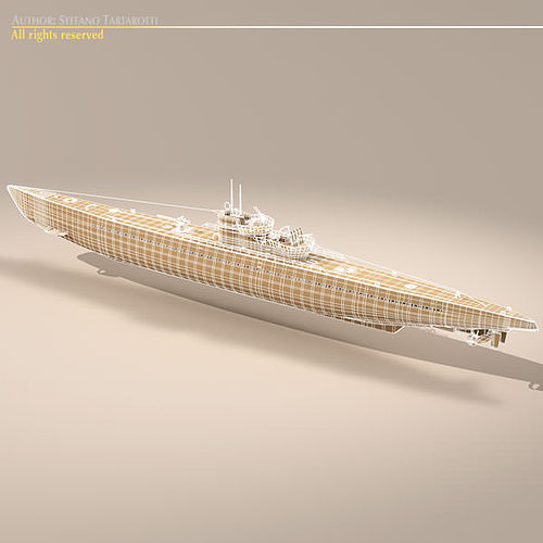 type ix u-boat submarine 3d model max obj 3ds fbx c4d dxf 13