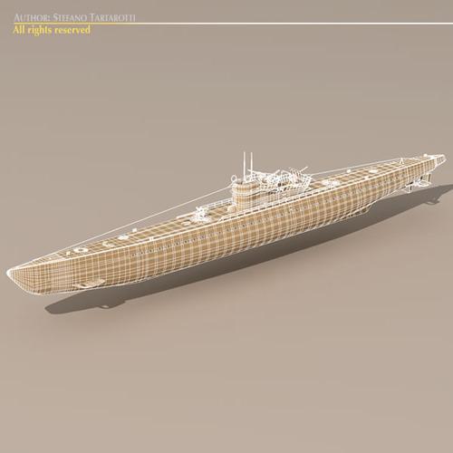 Type IX U-boat submarine