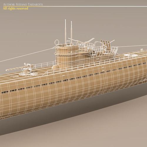 Type IX U-boat submarine3D model