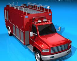3d model firetruck us medium