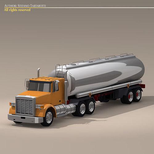 us tanker truck 3d model obj mtl 3ds c4d dxf 1
