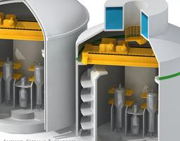 nuclear reactor building 3d model