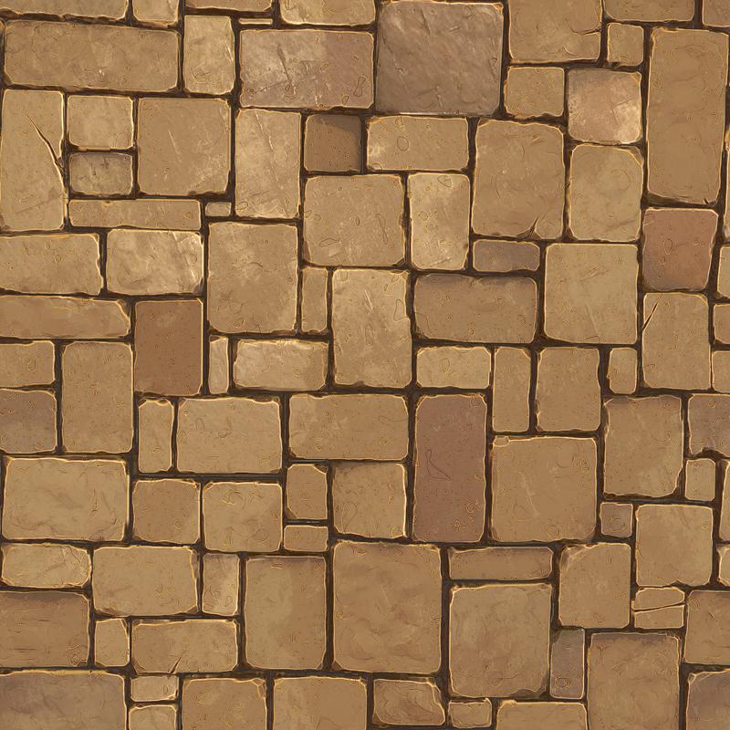 Stone Floor Texture Pack 3d Model Game Ready Obj