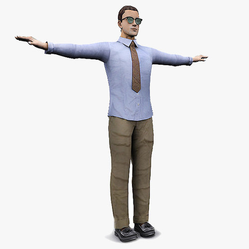 Men Character Office Style3D model