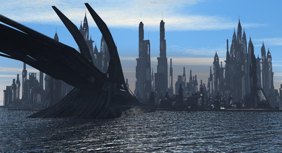 Scifi City Buildings 3D model | CGTrader