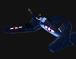 Low-poly F4U 3D Model