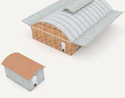 3d model industrial railway buildings