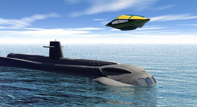 seaview submarine and aerosub 3d model obj mtl 1