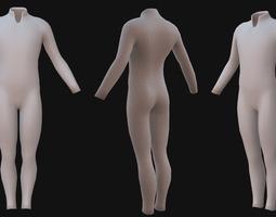 Male Sci-fi Suit 3D Model