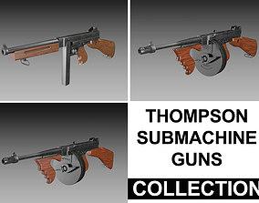 3D model Thompson Submachine Gun - Collection