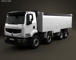renault premium lander tipper truck 2012 3d model