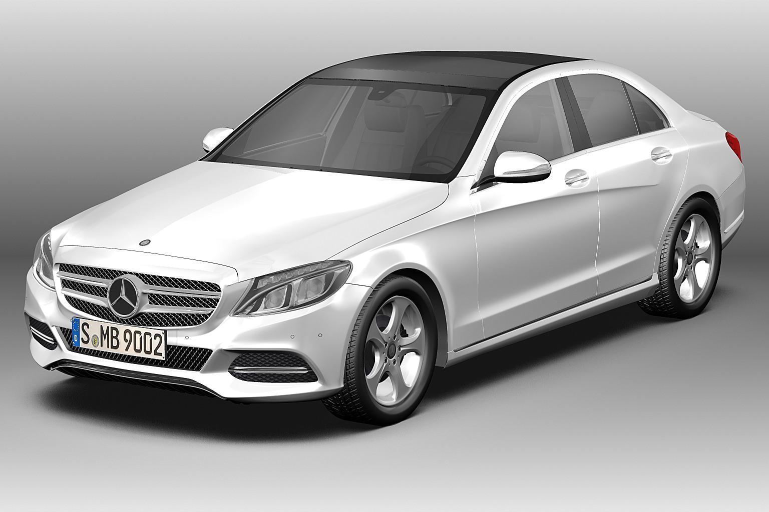 2014 Mercedes Benz C Class 3d Model Max Obj Mtl 3ds Fbx C4d Lwo Lw Lws ...