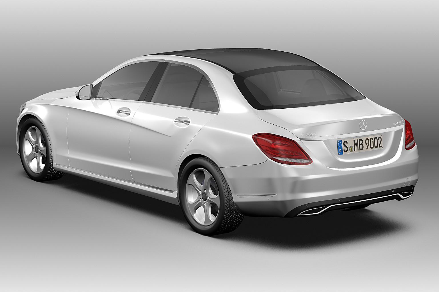 2014 mercedes benz c class 3d model max obj 3ds fbx c4d for Mercedes benz new c class 2014
