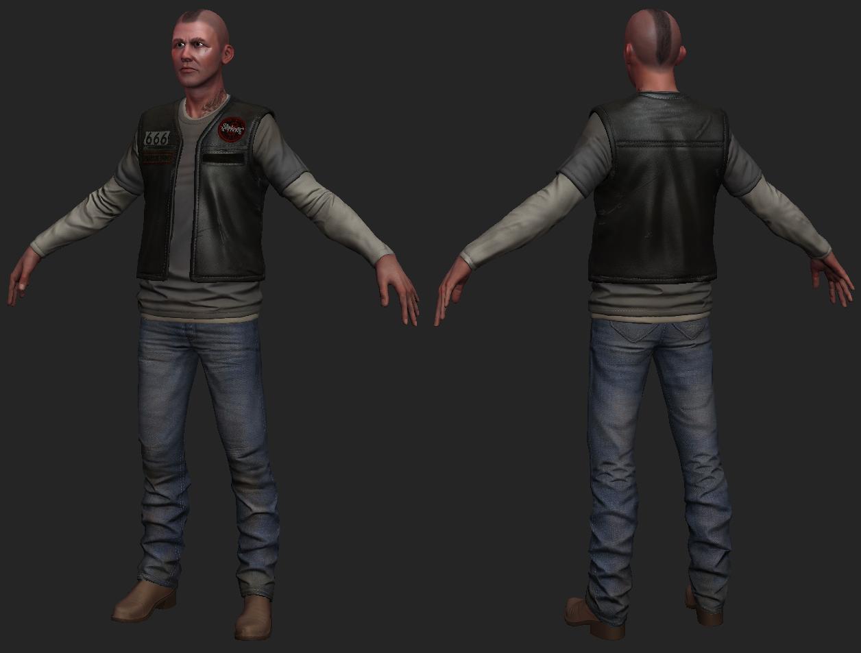 3d Model Biker Next Gen 3d Character Vr Ar Low Poly