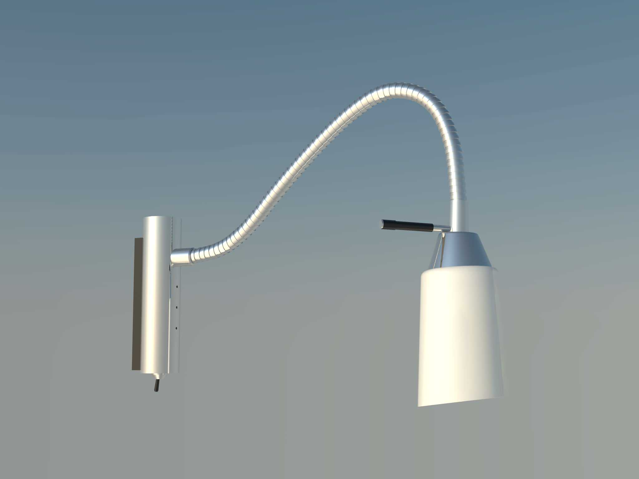 reading wall lamp 3D Model .skp - CGTrader.com