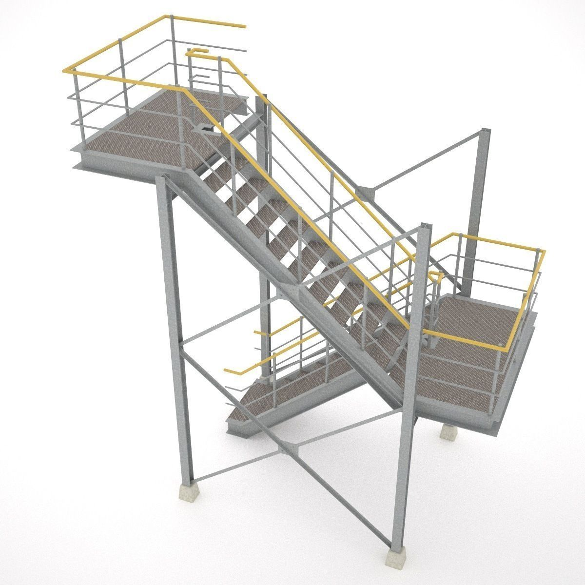 Kitchen Designers Jobs Industrial Stairs 01 3d Model Obj 3ds Fbx Hrc Xsi