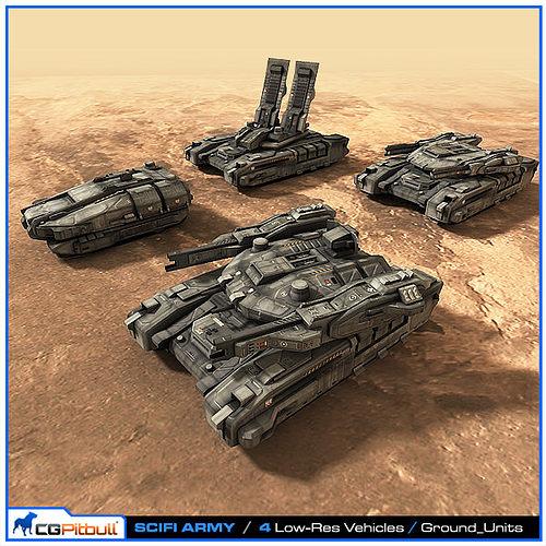 SciFi Army Ground Units 01