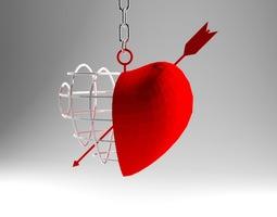Arrow Heart 3D Model