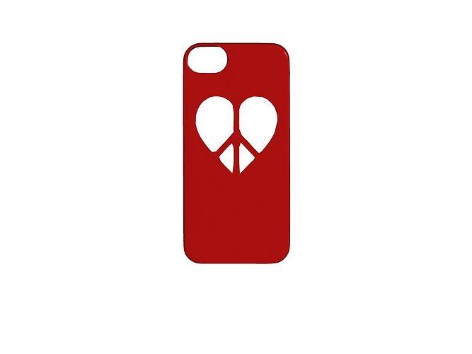 love peace iphone case 3d model stl 1
