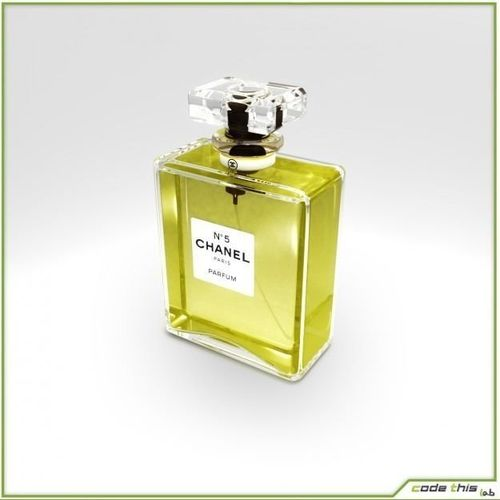 Replica Perfume Bottles Chanel N°5 and Acqua di Giò 3D Model .max .obj .fbx
