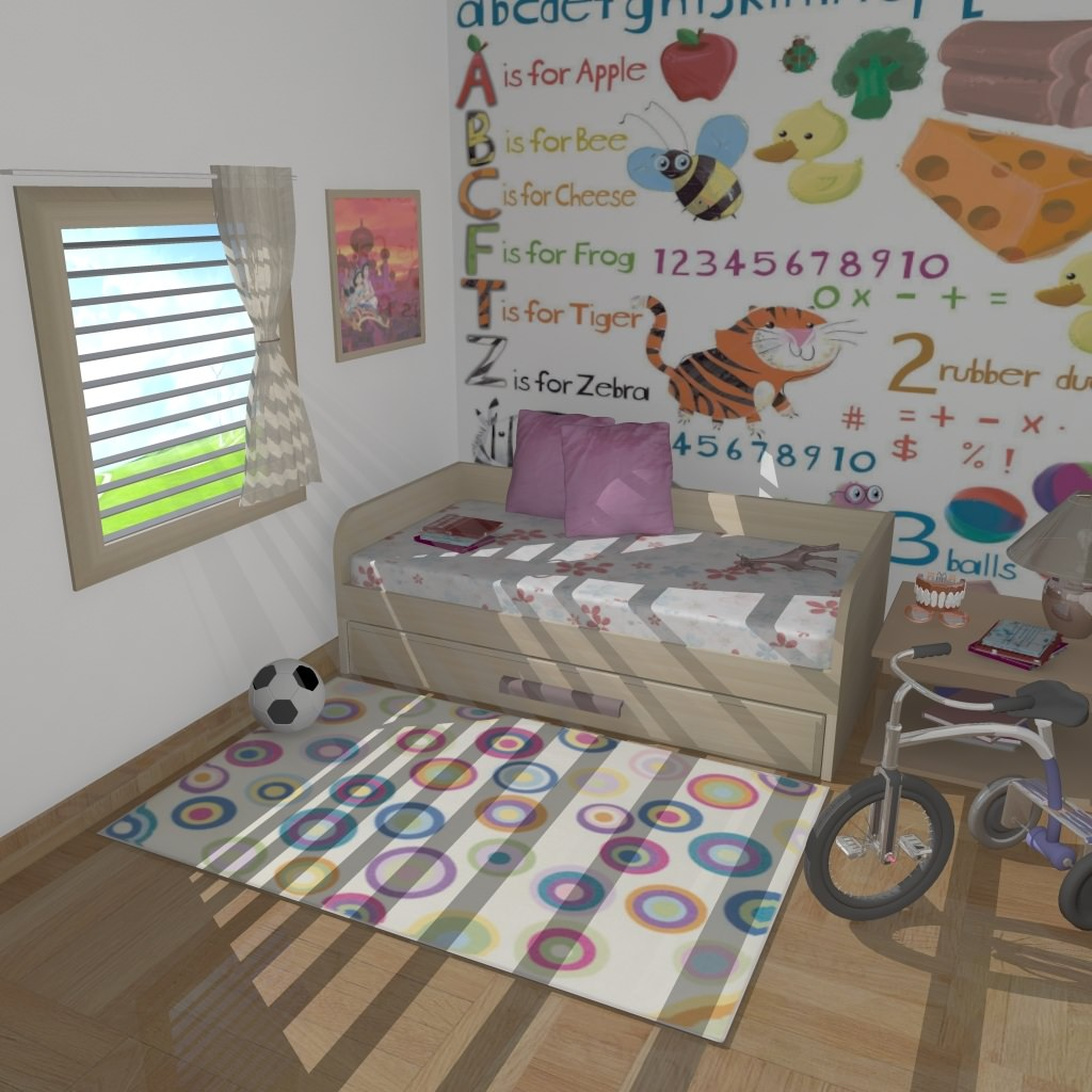 Kids Room 3d Model Ma Mb 1