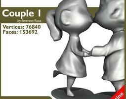 Passionate couple! 3D Model