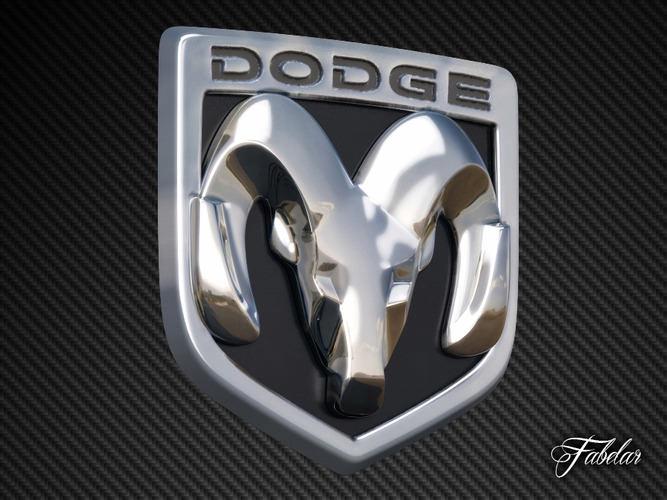 2016 Dodge Ram >> Dodge Emblem free 3D Model MAX OBJ 3DS FBX C4D DAE | CGTrader.com