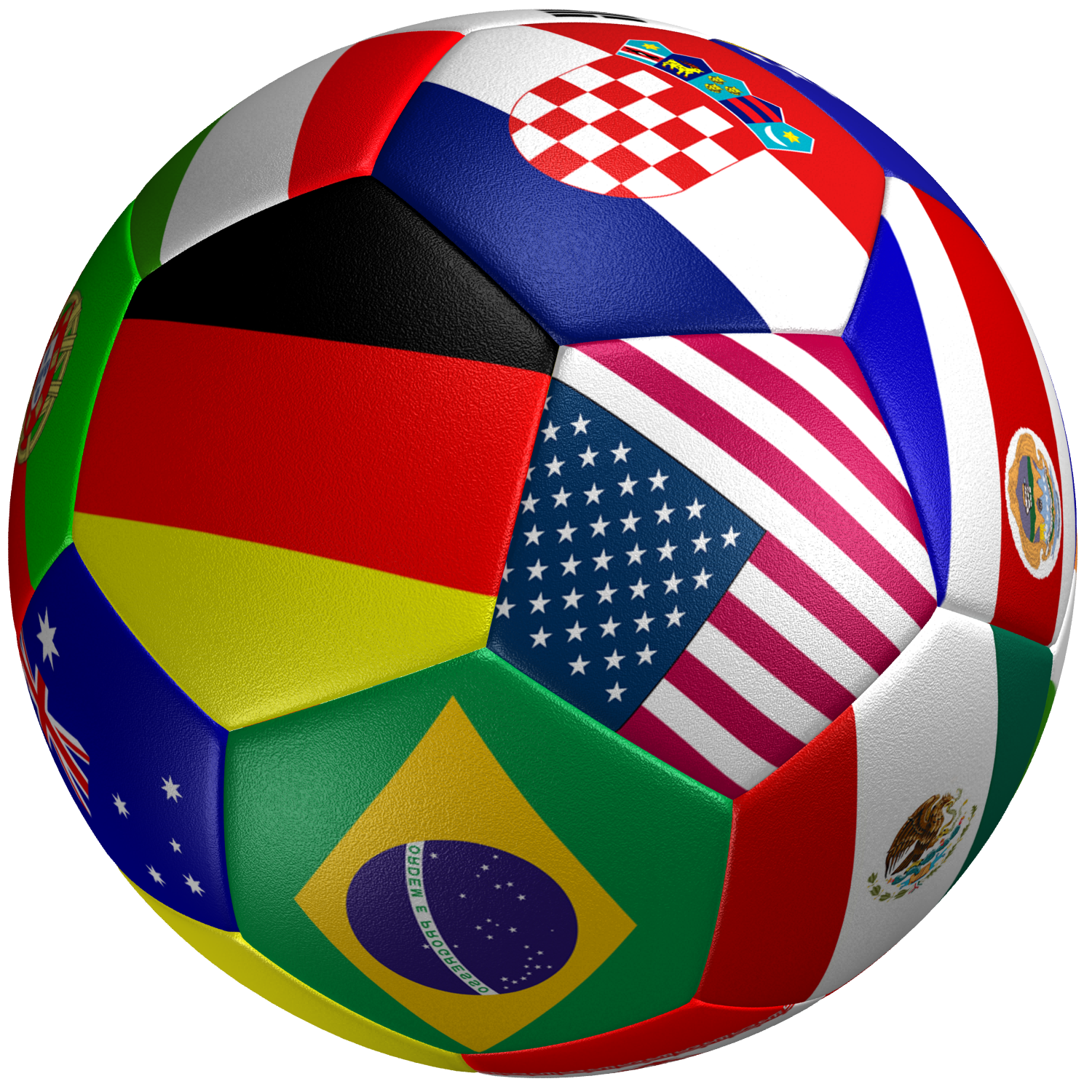 Soccer: Soccer Ball Flag 3D Model Game Ready .max .obj .3ds .fbx