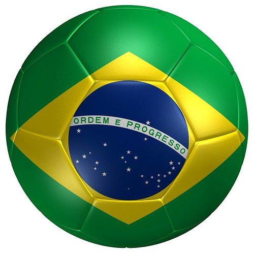 06a45b34e 3D asset realtime Soccer Ball Brazil Flag   CGTrader