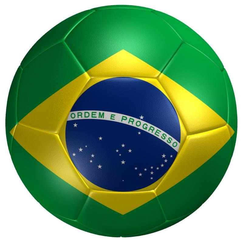 Soccer Ball Brazil Flag 3D Model Game ready .max .3ds .fbx .mtl ...