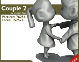 Passionate Couple 2 3D Model