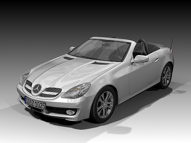 2008 mercedes benz slk 3d model cgtrader