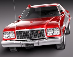 Ford Gran Torino 1975 Starsky n Hutch 3D Model
