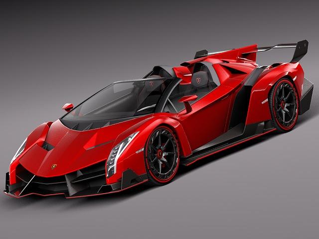 Lamborghini Veneno Roadster 2014 3D model MAX OBJ MTL 3DS ...