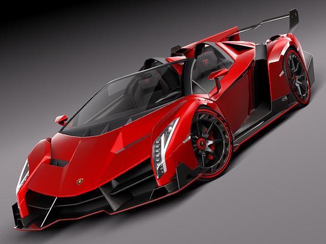 lamborghini veneno roadster 2014 3d model max obj 3ds fbx