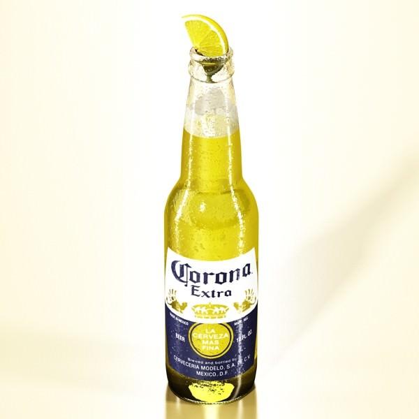 Corona Beer Bottle Coaster And Lemon 3d Model Max Obj