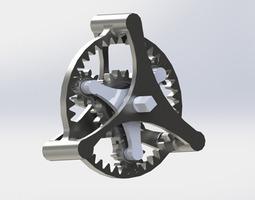 planetary gear 3d printable model